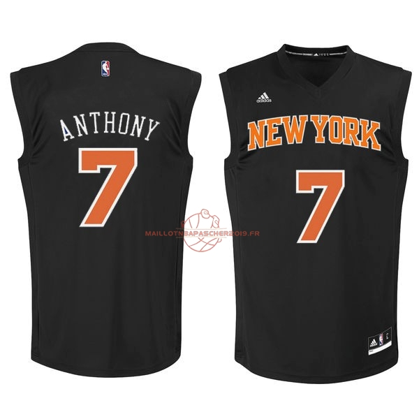 Achat Maillot NBA New York Knicks NO.7 Carmelo Anthony Noir Orange pas cher