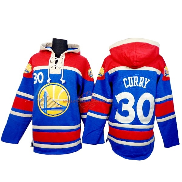 Achat Hoodies NBA Golden State Warriors NO.30 Curry Bleu Rouge pas cher