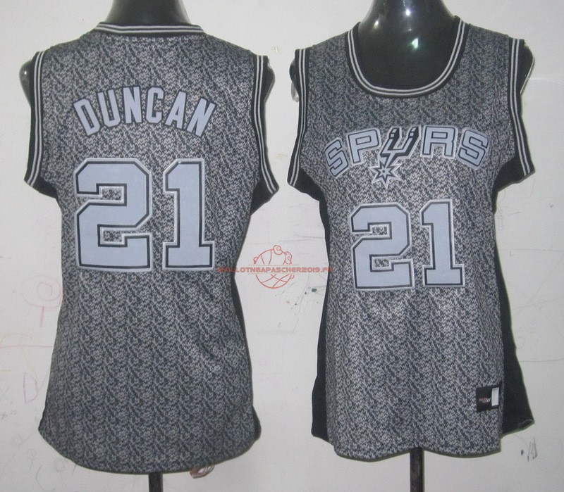 Achat Maillot NBA Femme 2013 Static Fashion NO.21 Tim Duncan pas cher