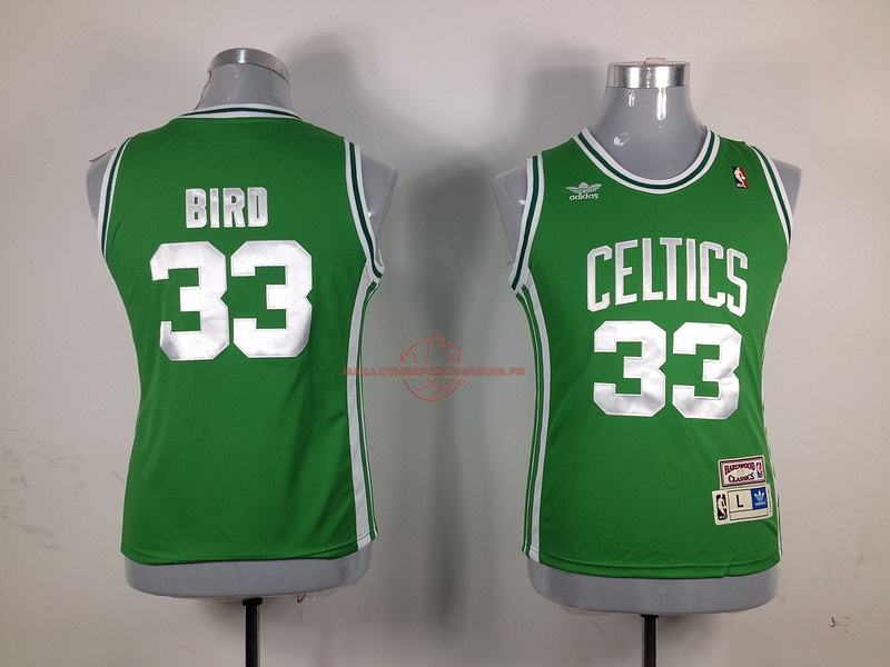 Achat Maillot NBA Femme Boston Celtics NO.33 Larry Joe Bird Vert pas cher