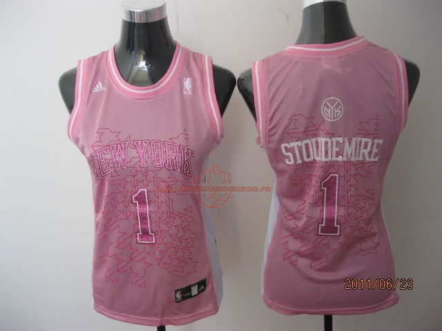 Achat Maillot NBA Femme New York Knicks NO.1 Amar'e Stoudemire Rose pas cher