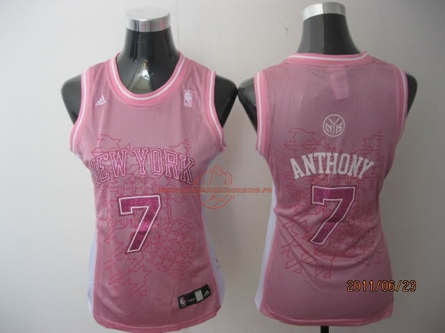 Achat Maillot NBA Femme New York Knicks NO.7 Carmelo Anthony Rose pas cher