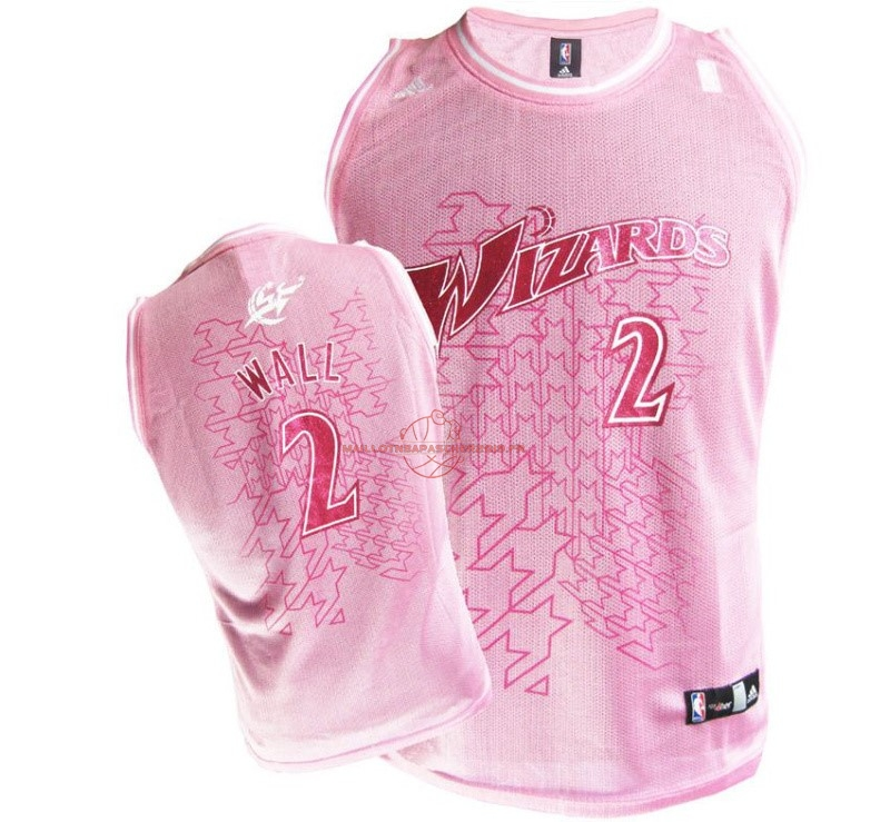 Achat Maillot NBA Femme Washington Wizards NO.2 John Wall Rose pas cher