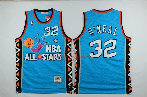 Achat Maillot NBA 1996 All Star NO.32 Shaquille O'Neal Bleu pas cher