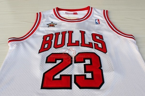 Achat Maillot NBA 1998 All Star NO.23 Michael Jordan Blanc pas cher