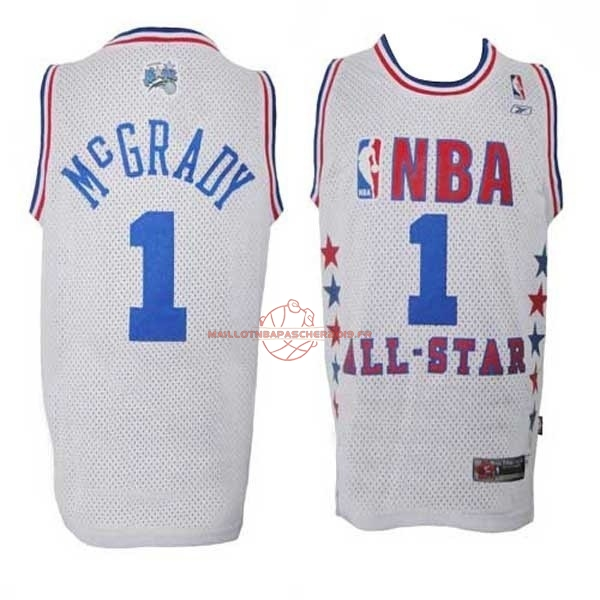 Achat Maillot NBA 2003 All Star NO.1 Tracy McGrady Blanc pas cher