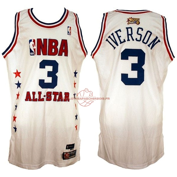 Achat Maillot NBA 2003 All Star NO.3 Allen Iverson Blanc pas cher