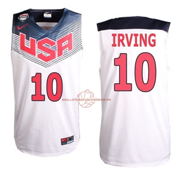 Achat Maillot NBA 2014 USA NO.10 Irving Blanc pas cher