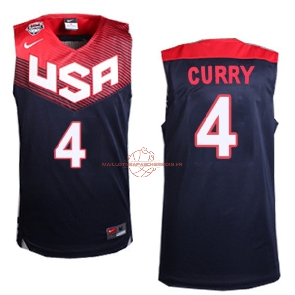 Achat Maillot NBA 2014 USA NO.4 Curry Noir pas cher