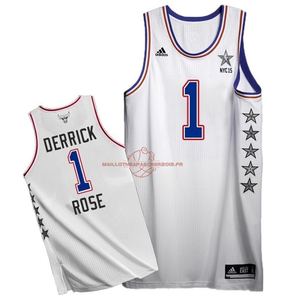 Achat Maillot NBA 2015 All Star NO.1 Derrick Rose Blanc pas cher