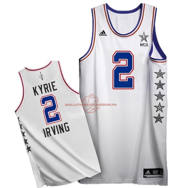 Achat Maillot NBA 2015 All Star NO.2 Kyrie Irving Blanc pas cher