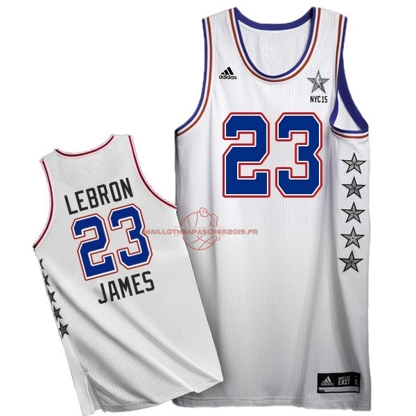 Achat Maillot NBA 2015 All Star NO.23 LeBron James Blanc pas cher