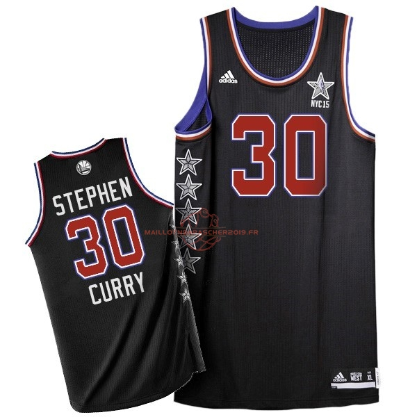 Achat Maillot NBA 2015 All Star NO.30 Stephen Curry Noir pas cher