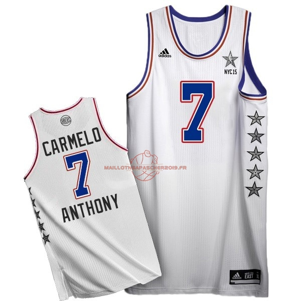 Achat Maillot NBA 2015 All Star NO.7 Carmelo Anthony Blanc pas cher