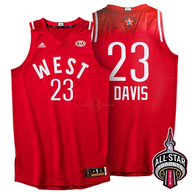 Achat Maillot NBA 2016 All Star NO.23 Anthony Davis Rouge pas cher