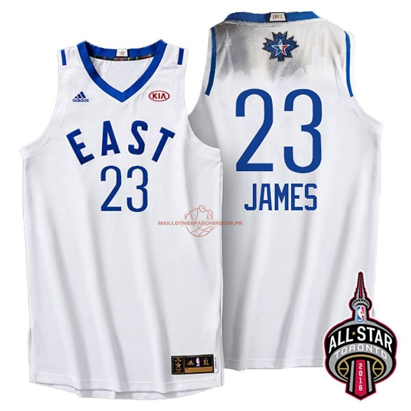 Achat Maillot NBA 2016 All Star NO.23 LeBron James Blanc pas cher