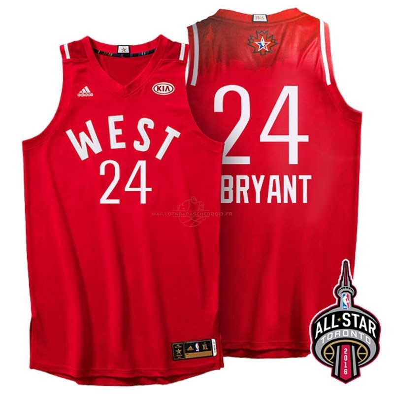 Achat Maillot NBA 2016 All Star NO.24 Kobe Bryant Rouge pas cher
