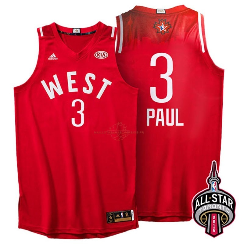 Achat Maillot NBA 2016 All Star NO.3 Chris Paul Rouge pas cher