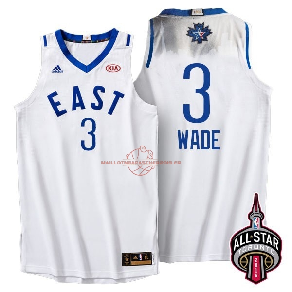 Achat Maillot NBA 2016 All Star NO.3 Dwyane Wade Blanc pas cher
