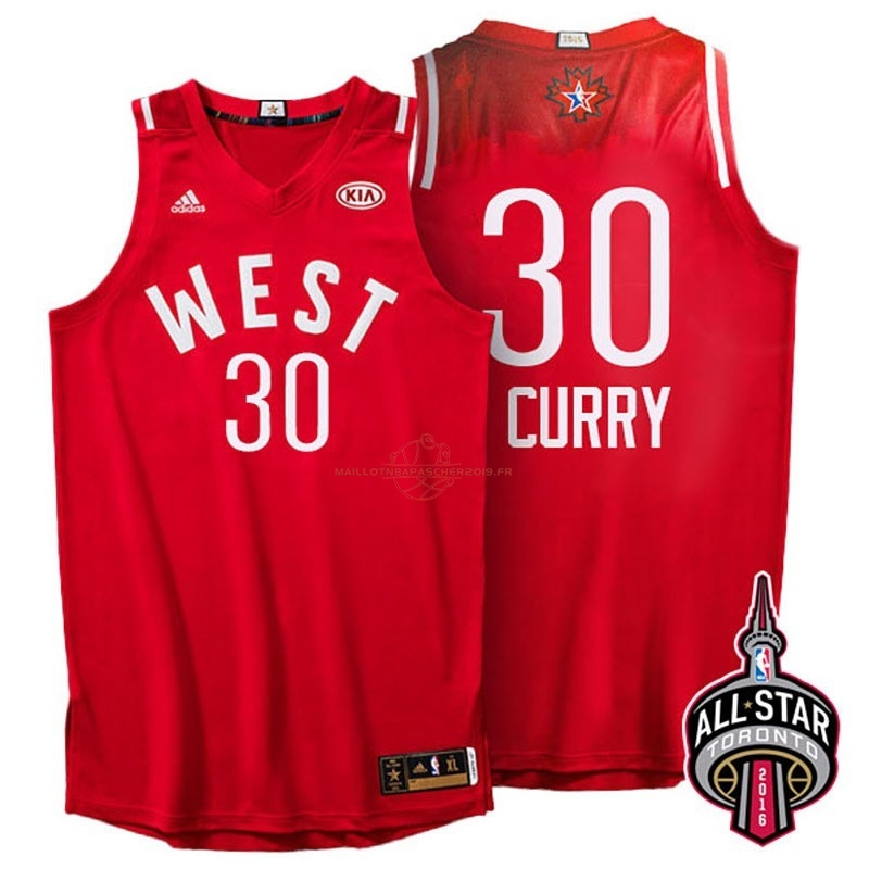 Achat Maillot NBA 2016 All Star NO.30 Stephen Curry Rouge pas cher