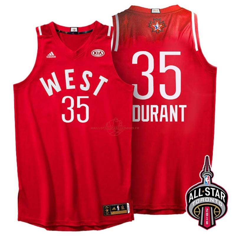 Achat Maillot NBA 2016 All Star NO.35 Kevin Durant Rouge pas cher
