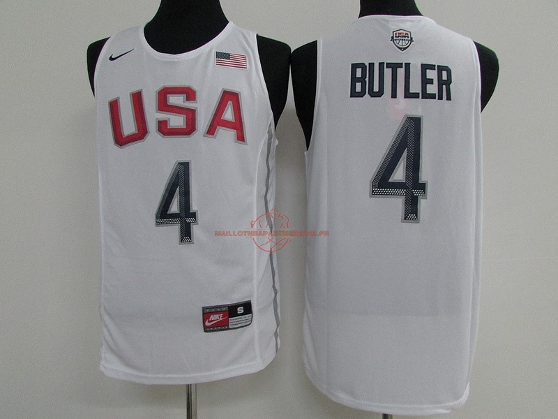 Achat Maillot NBA 2016 USA NO.4 Jimmy Butler Blanc pas cher