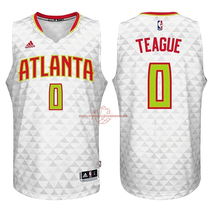 Achat Maillot NBA Atlanta Hawks No.0 Jeff Teague Blanc pas cher