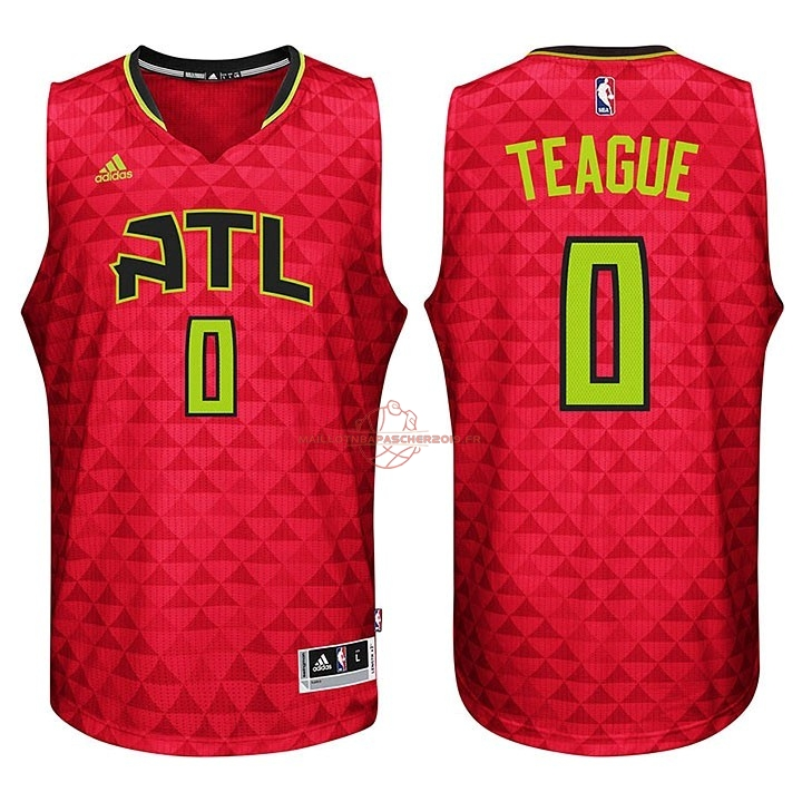 Achat Maillot NBA Atlanta Hawks No.0 Jeff Teague Rouge pas cher