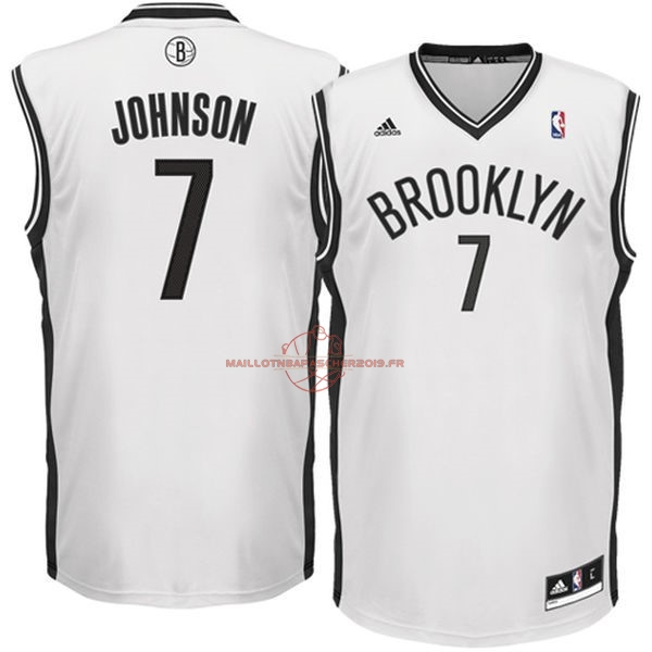Achat Maillot NBA Brooklyn Nets No.7 Earvin Johnson Blanc pas cher