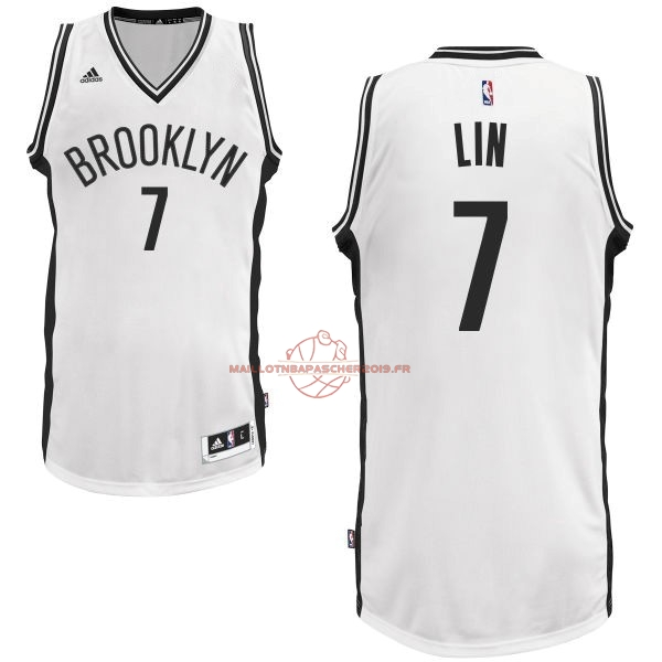 Achat Maillot NBA Brooklyn Nets No.7 Jeremy Lin Blanc pas cher