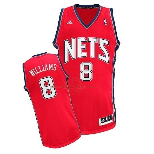 Achat Maillot NBA Brooklyn Nets No.8 Deron Michael Williams Rouge pas cher