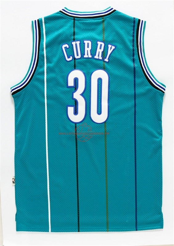 Achat Maillot NBA Charlotte Hornets NO.30 Wardell Stephen Curry Vert pas cher