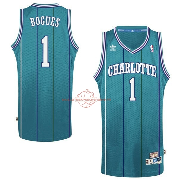 Achat Maillot NBA Charlotte Hornets No.1 Tyrone Curtis Bogues Vert pas cher