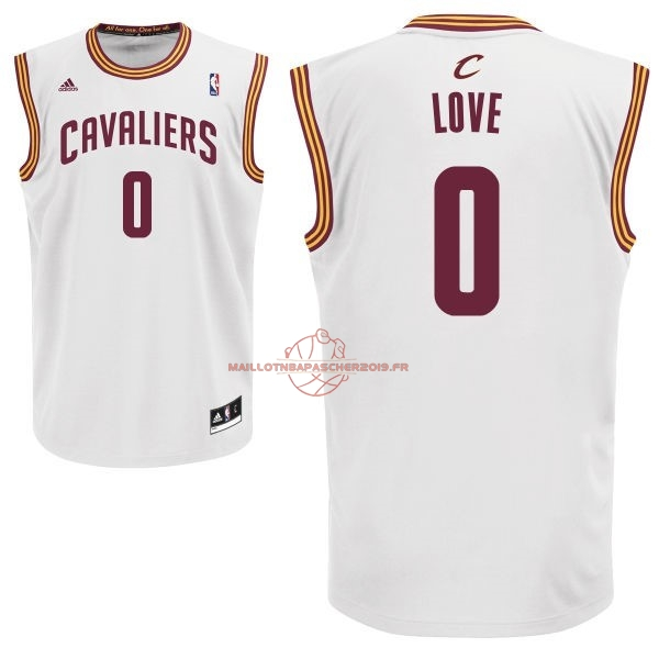 Achat Maillot NBA Cleveland Cavaliers NO.0 Kevin Love Blanc pas cher