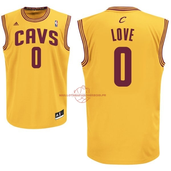 Achat Maillot NBA Cleveland Cavaliers NO.0 Kevin Love Jaune pas cher