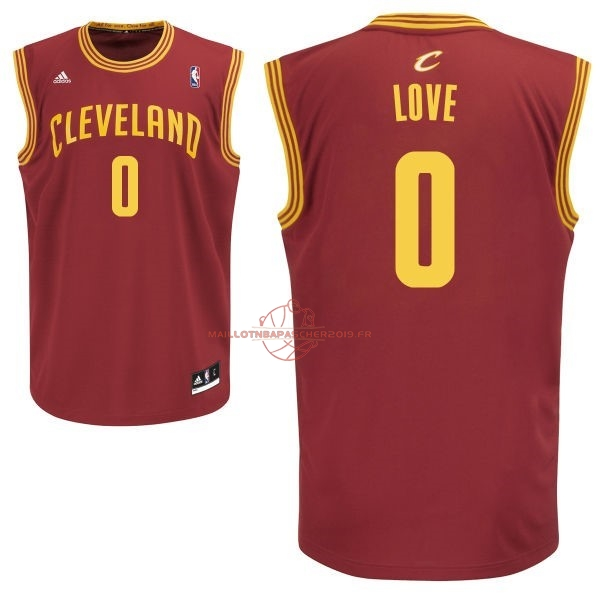 Achat Maillot NBA Cleveland Cavaliers NO.0 Kevin Love Rouge pas cher
