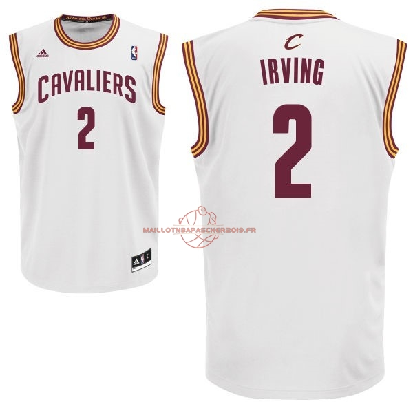 Achat Maillot NBA Cleveland Cavaliers NO.2 Kyrie Irving Blanc pas cher