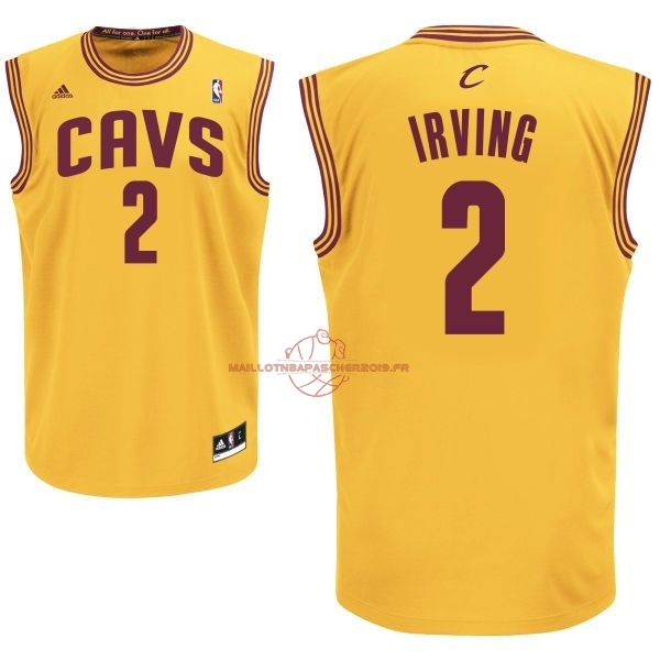 Achat Maillot NBA Cleveland Cavaliers NO.2 Kyrie Irving Jaune pas cher