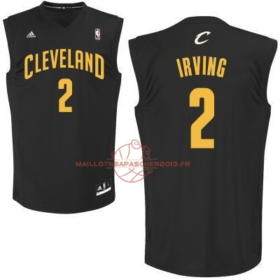 Achat Maillot NBA Cleveland Cavaliers NO.2 Kyrie Irving Noir pas cher