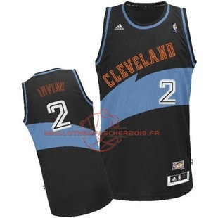 Achat Maillot NBA Cleveland Cavaliers NO.2 Kyrie Irving Retro Noir pas cher