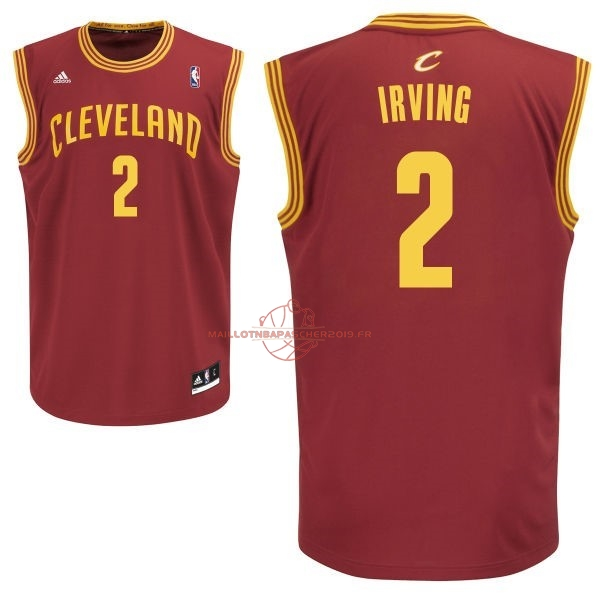 Achat Maillot NBA Cleveland Cavaliers NO.2 Kyrie Irving Rouge pas cher