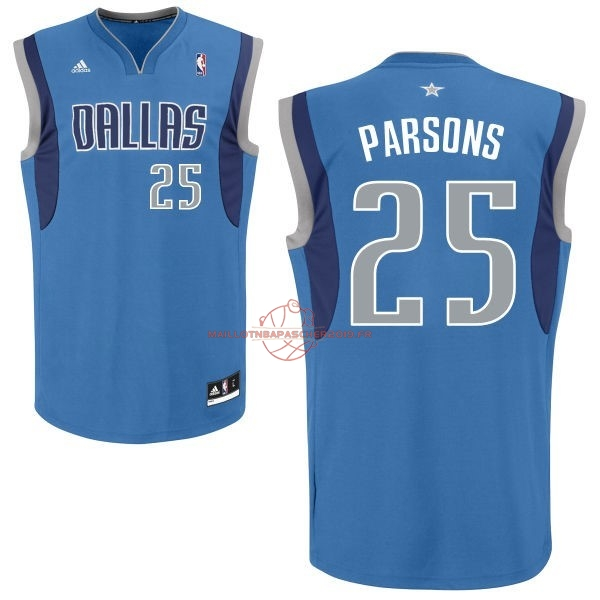Achat Maillot NBA Dallas Mavericks NO.25 Chandler Parsons Bleu pas cher