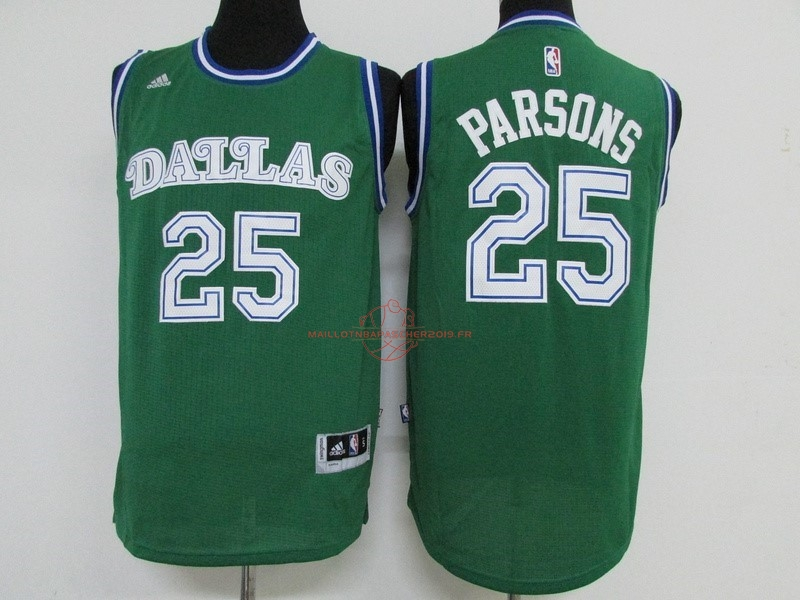 Achat Maillot NBA Dallas Mavericks NO.25 Chandler Parsons Vert pas cher