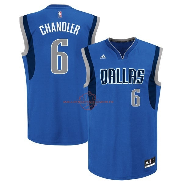 Achat Maillot NBA Dallas Mavericks NO.6 Tyson Chandler Bleu pas cher