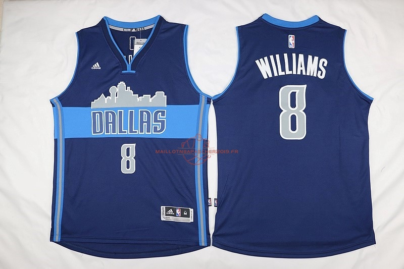Achat Maillot NBA Dallas Mavericks NO.8 Deron Michael Williams Bleu Profond pas cher