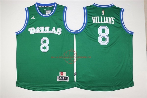 Achat Maillot NBA Dallas Mavericks NO.8 Deron Michael Williams Vert pas cher
