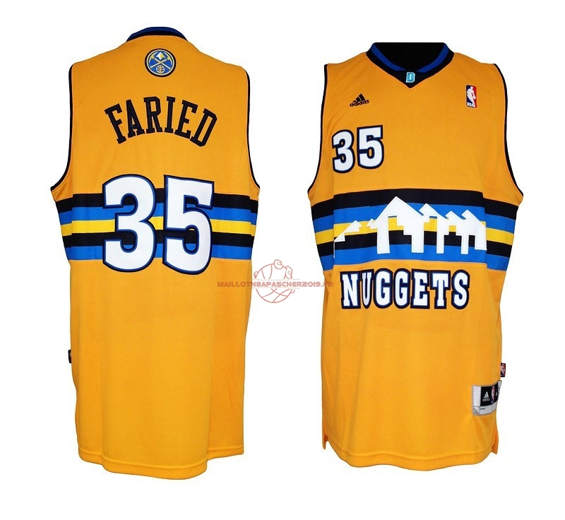 Achat Maillot NBA Denver Nuggets NO.35 Kenneth Faried Jaune pas cher
