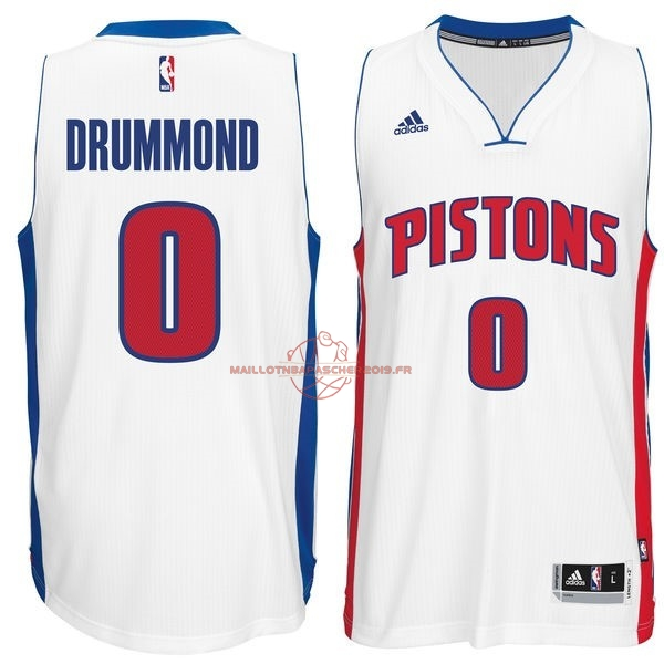 Achat Maillot NBA Detroit Pistons NO.0 Andre Drummond Blanc pas cher