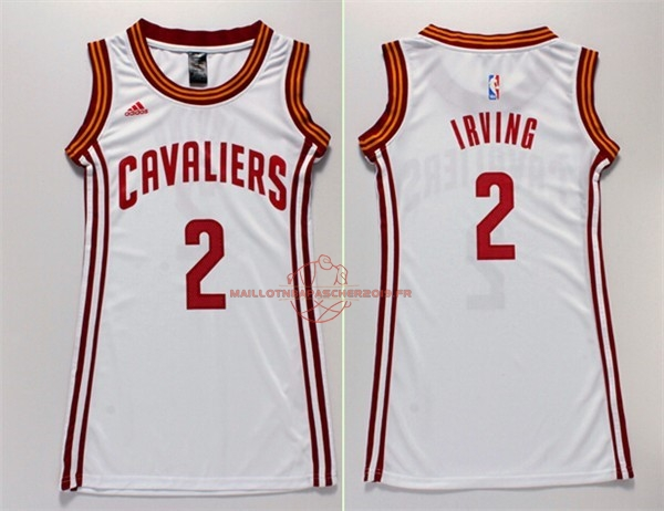 Achat Maillot NBA Femme Cleveland Cavaliers NO.2 Kyrie Irving Blanc pas cher