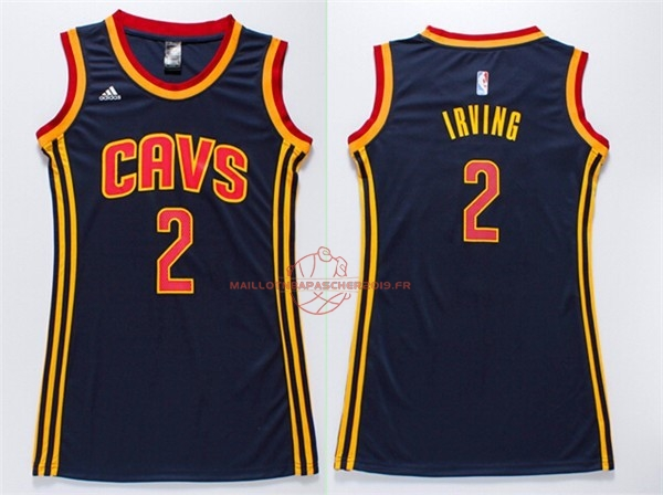 Achat Maillot NBA Femme Cleveland Cavaliers NO.2 Kyrie Irving Bleu pas cher